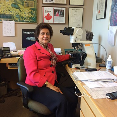 Dr. Dhun Noria is the Chief of Laboratory Medicine and Medical Director of Laboratories at the Scarborough Hospital. She's also a surgical and oncological pathologist and her office is located on Birchmount Road.