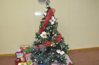 The Christmas tree at the church
