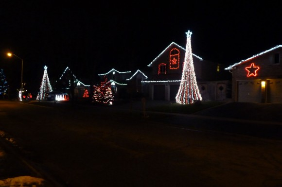 Rigby Lights Christmas display in Pickering, Ontario