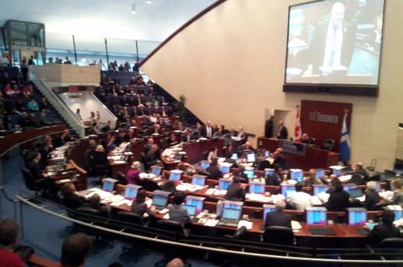 Toronto City Council debates the city's next budget. The two-day debate concluded Jan. 30. The approved budget includes a 2.23 per cent residential property tax increase.