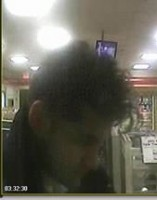 Security camera photo of suspect wanted in break and enter case