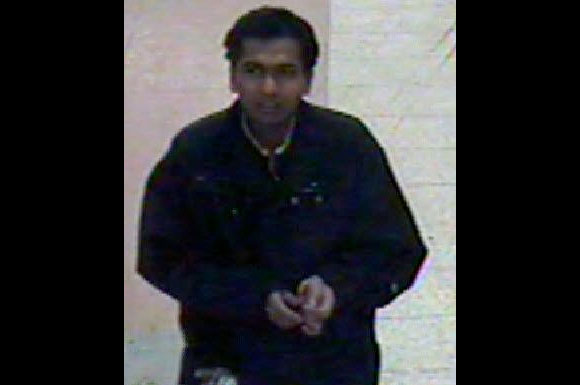 Security camera image of person of interest in sexual assault case released by police.