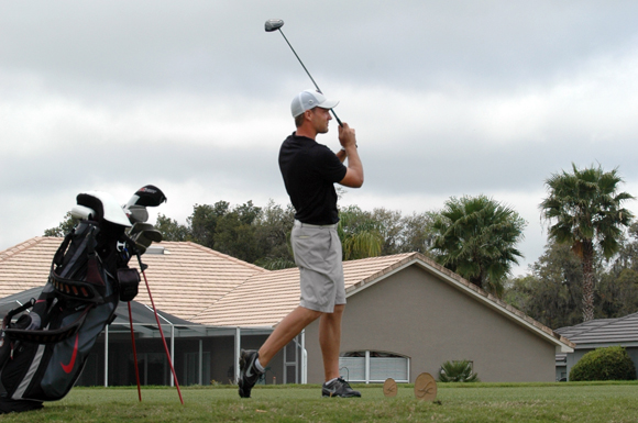 Moritz Ackerhans shot a 4  over 76 on Tuesday at the final round of the USF Invitational Golf Tournament at Lake Jovita, Florida.
