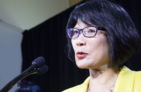 Former NDP MP Olivia Chow launches her campaign for Toronto's top job at St. Simon-the-Apostle Anglican Church on March 13. She joins Mayor Rob Ford, former TTC chair Karen Stintz, former Toronto budget chief David Soknacki and former Ontario PC leader John Tory, among others, in the mayoral race, set to be decided Oct. 27.
