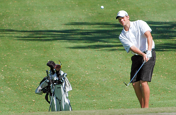 Indiana native Adam Schenk shot a two under par 70 on the second day of the USF Invitational Golf Tournament at Lake Jovita, Florida, on Monday.
