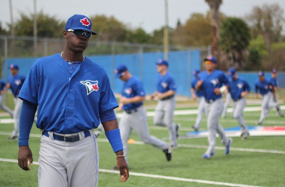 Toronto Blue Jays prospect Gustavo Pierre earned a spot on the Midwest League all-star team last season, and also set great number for the A+ Dunedin Blue Jays.