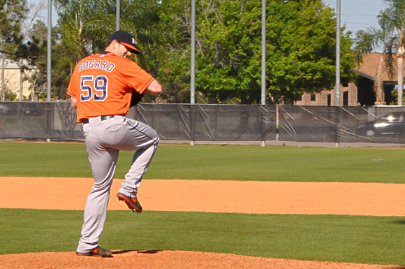 Arizona native Alex Sogard is trying to climb up the Houston Astros ladder.