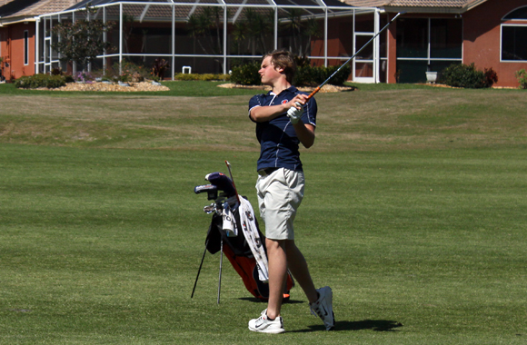Belgium's Thomas Detry represented the University of Illinois at the USF Invitational Golf Tournament at Lake Jovita, Florida.