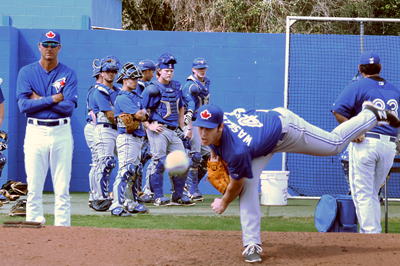 Virginia's Zak Wasilewski pitches for the Blue Field Blue Jays but aspires to move to the majors in the future.