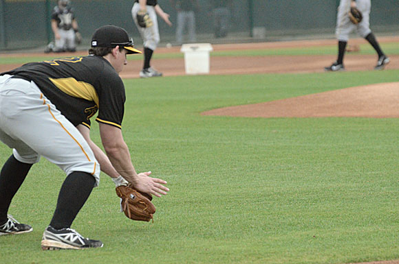 Second baseman Dan Gamache credits his parents and long-time mentor Jon Burke with helping him become the player he is today, says the Newport, R.I., native at Pittsburgh Pirates minor league spring training camp in Brandenton, Fla.