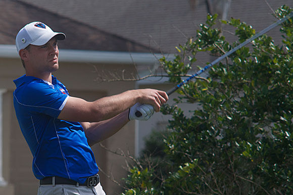 Moritz Ackerhans of DePaul University shot a Round Two 73 at the USF Invitational on Monday at Lake Jovita in Dade City, Fla.