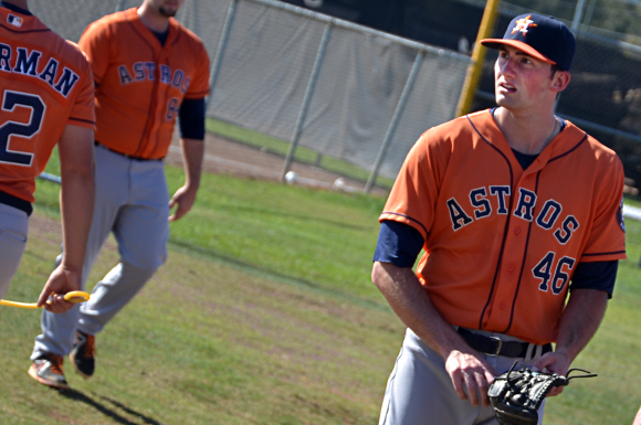 Houston Astros' prospect Kent Emanuel is following in the footsteps of friends from the University of North Carolina.