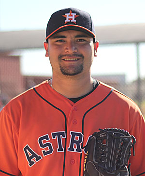 Gonzalo Sanudo, 22, says his dream is to play in MLB. 'Play there to make history, one of the few Mexican players to take part in major leagues,' the Houston pitching hopeful said during spring training in Kissimmee, Fla. 22-year-old Mexican native