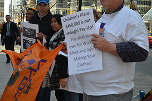 VIDEO : Rana Plaza activists rally in Toronto