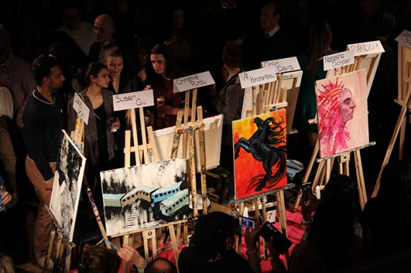 Several artists featured in the picture above are racing to finish.
