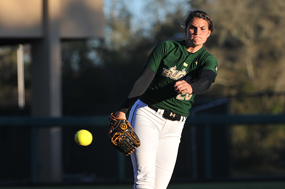 Lefty Erica Nunn was 11-7 with a 2.79 ERA this season for the University of South Florida. Photo: USF