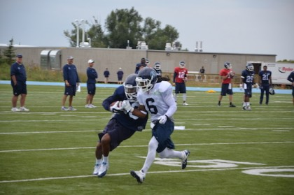 DB Alex Suber (6) was getting right to work in his first practice with the Argonauts on Monday.