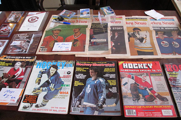 Everything from magazines, to jerseys, to replica Stanley Cup rings were on display at the Toronto Sports Card and Memorabilia Show on Saturday