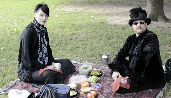 Queen Street West resident  Scott Chesterson (left) and Ivy Belin picnic in Trinity Bellwoods Park.