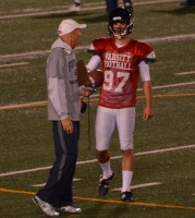 Hewitson and kicking coach Jeff Mandelker have formed a special bond due to how closely the two work with one another