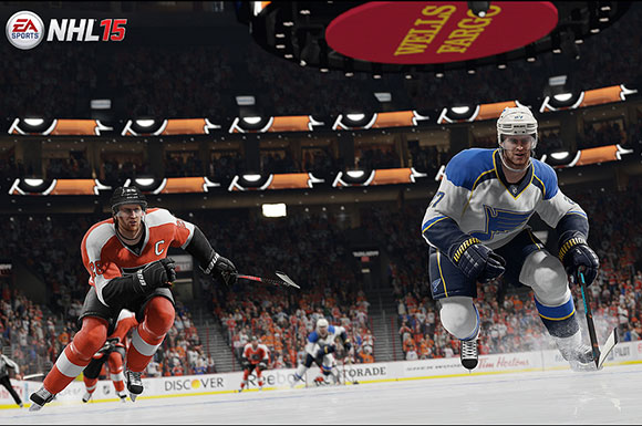 Game footage from NHL 15.