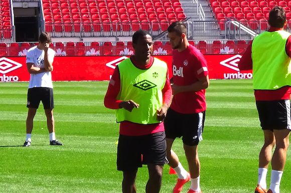 Patrice Bernier working hard towards his Canadian soccer milestone