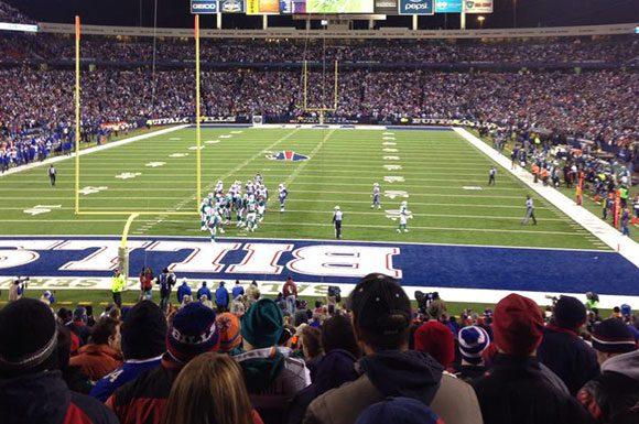 A view from inside Ralph Wilson Stadium.