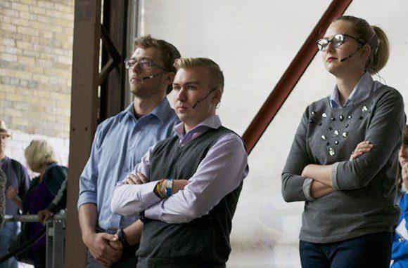 Mayoral candidates Matthew Crack, Klim Khomenko and Morgan Baskin