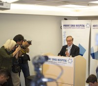 Dr. Zane Cohen, the leader of the medical team treating Rob Ford at Mt. Sinai, speaks about the Mayor's condition at a press conference Wednesday. Ford has a rare type of cancer called liposarcoma.