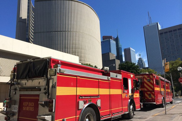 City Hall was evacuated and closed Thursday due to a basement fire that started at noon.