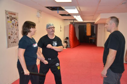 Krav maga instructor Christopher Gagne (right) teaches students the finer points of krav maga self-defence at his Toronto gym.