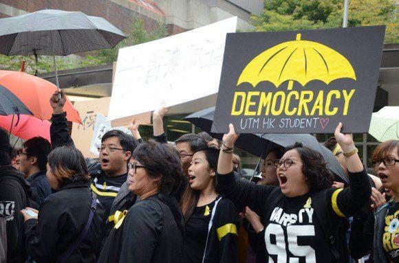 Hong Kong protests hit home
