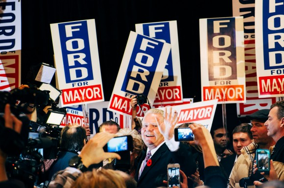 Supporters rally as Doug Ford speaks