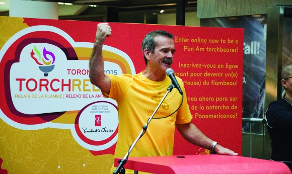 Chris Hadfield set to be first official torch bearer for Pan Am Games