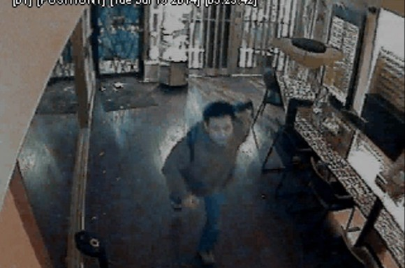 Male suspect broke into broke into an optical store near Dundas Street West and Huron Street and stole around $30,000 in merchandise.