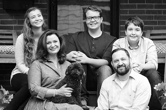 Jen Sagar and her family