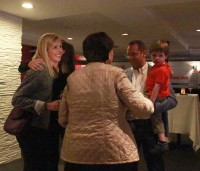 Christin Carmichael Greb celebrating her win at her election party