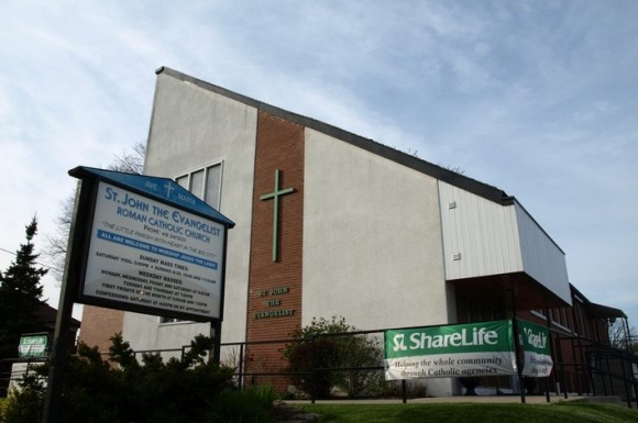 At Weston Road and Lawrence West, St. John the Evangelist Church is currently under renovation.