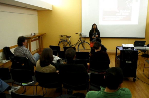 Siva Vijenthira of Cycle Toronto shared tips on surviving the cold on a bike.
