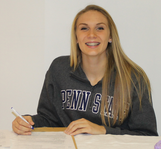 Victoria Gorrell anticipating her move to Penn State on an athletic scholarship.
