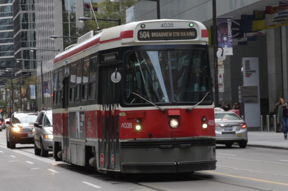 TTC's old streetcars are still being used on the road while waiting for the new streetcars.
