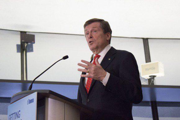 John Tory speaks at City Hall Jan. 20, 2015
