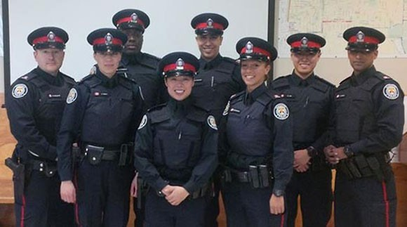 New faces on the beat in East York: Eight recruits to 55 Division add to police force's diversity.