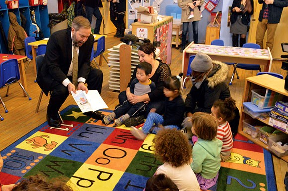 Mulcair pushes daycare plan in East York