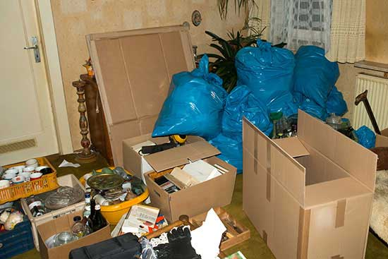 Collecting in a confined space can become hoarding.