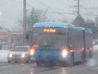 Viva bus in the Feb. 2 snowstorm.