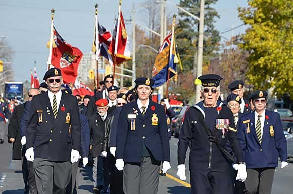 Jack Aldred, Remembrance Day parade
