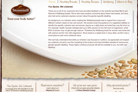 Stonemill breads letter