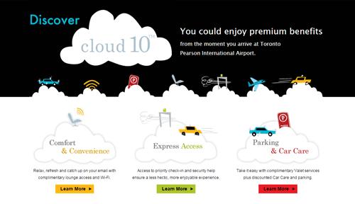 Entertainment on Cloud 10 website