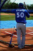 Atkinson waits to bat